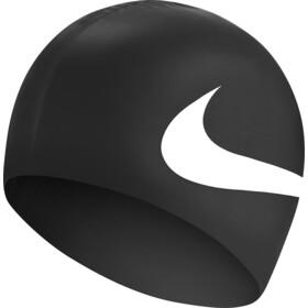 Nike Swim Big Swoosh Printed Siliconen Badmuts, wit